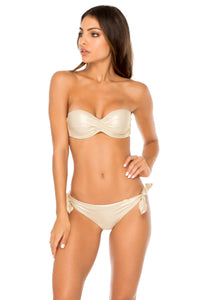 COSITA BUENA - Underwire Push Up Bandeau Top & Cayo Coco Brazilian Bottom • Gold Rush (1609277538406)