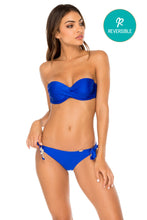 COSITA BUENA - Underwire Push Up Bandeau Top & Cayo Coco Brazilian Bottom • Electric Blue