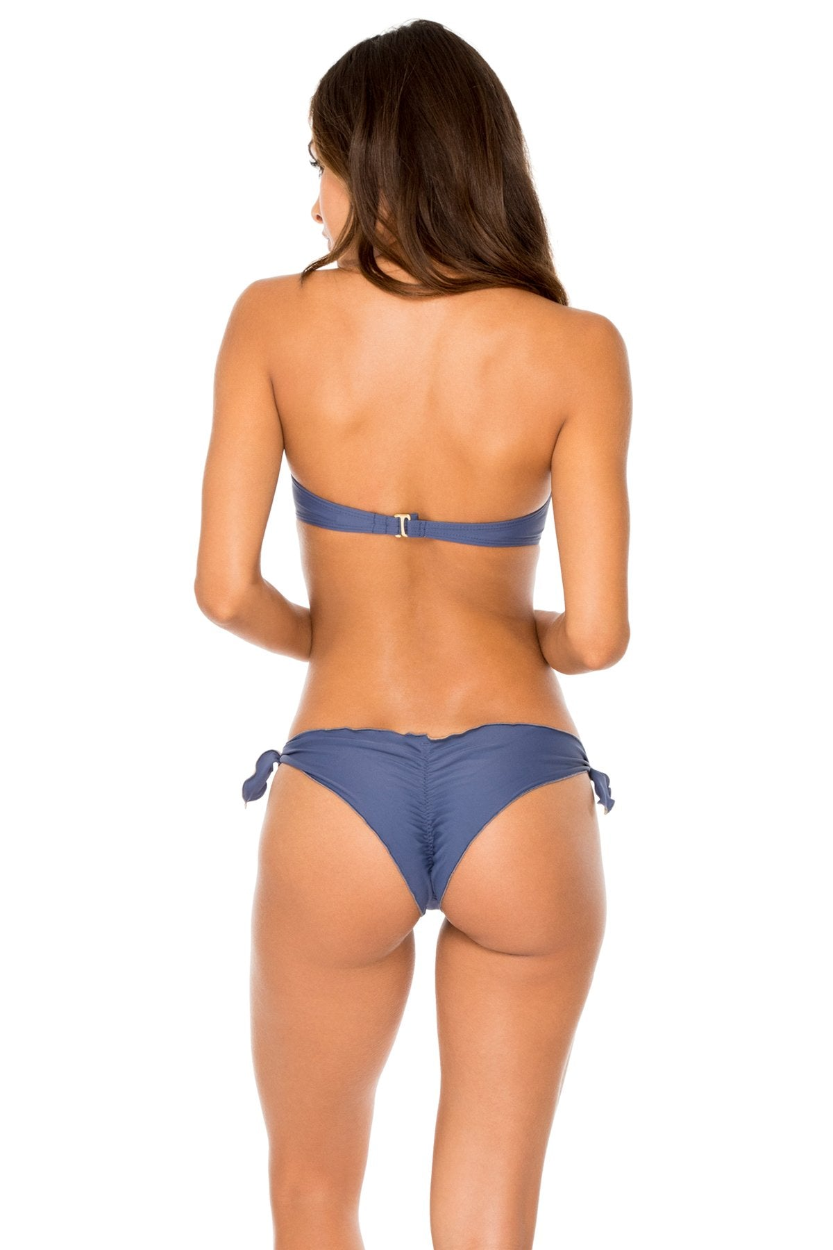 COSITA BUENA - Underwire Push Up Bandeau Top & Cayo Coco Brazilian Bottom • Azulejos