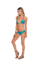 COSITA BUENA - Zig Zag Knotted Cut Out Triangle Top & Wavey Brazilian Ruched Back Bottom • Exuma