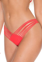 COSITA BUENA - Zig Zag Knotted Cut Out Triangle Top & Strappy Brazilian Ruched Back Bottom • Girl On Fire