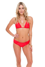 COSITA BUENA - Zig Zag Knotted Cut Out Triangle Top & Scrunch Panty Ruched Back • Girl On Fire