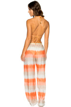 COSITA BUENA - Zig Zag Knotted Cut Out Triangle Top & Silk Boho Pants • Melon