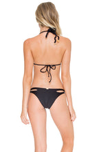 COSITA BUENA - Zig Zag Knotted Cut Out Triangle Top & Reversible Zig Zag Open Side Moderate Bottom • Black