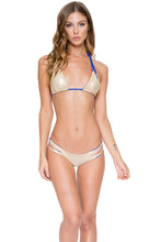 COSITA BUENA - Zig Zag Knotted Cut Out Triangle Top & Reversible Zig Zag Open Side Moderate Bottom • Electric Blue