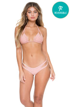 COSITA BUENA - Zig Zag Knotted Cut Out Triangle Top & Reversible Zig Zag Open Side Moderate Bottom • Rosa