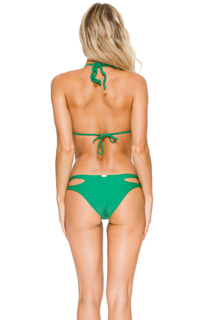 COSITA BUENA - Zig Zag Knotted Cut Out Triangle Top & Reversible Zig Zag Open Side Moderate Bottom • Palma