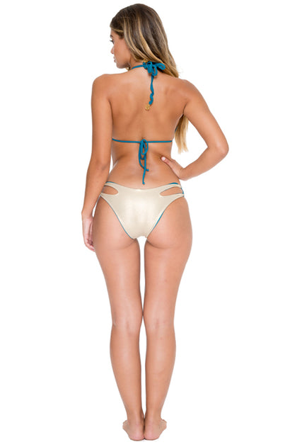 COSITA BUENA - Zig Zag Knotted Cut Out Triangle Top & Reversible Zig Zag Open Side Moderate Bottom • Miramar