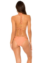 COSITA BUENA - Zig Zag Knotted Cut Out Triangle Top & Reversible Zig Zag Open Side Moderate Bottom • Azafran