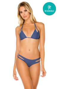 COSITA BUENA - Zig Zag Knotted Cut Out Triangle Top & Reversible Zig Zag Open Side Moderate Bottom • Azulejos