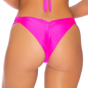 COSITA BUENA - Strappy  Ruched Back Bottom-EJC