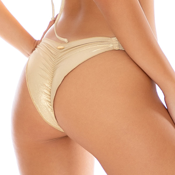 COSITA BUENA - Strappy  Ruched Back Bottom-CLS