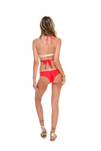 COSITA BUENA - Reversible Cross Over Halter & Wavey Brazilian Ruched Back Bottom • Girl On Fire