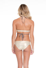 COSITA BUENA - Reversible Cross Over Halter & Side Tab Seamless Full Bottom • Sandy Toes