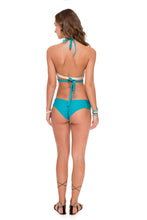 COSITA BUENA - Reversible Cross Over Halter & Scrunch Panty Ruched Back • Exuma