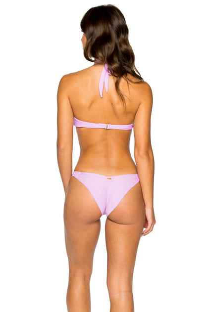 COSITA BUENA - Fama Multi Way Underwire Bandeau & Strappy Brazilian Ruched Back Bottom • Lavanda