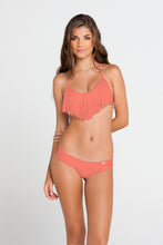 COSITA BUENA - Fringe Scoop Halter Top & Wavey Brazilian Ruched Back Bottom • Tropical Temptation