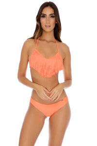 COSITA BUENA - Fringe Scoop Halter Top & Sassy Cheeks Bottom • Hot Mess