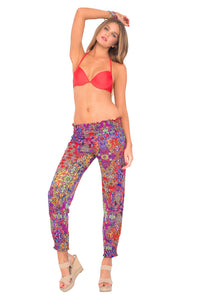 COSITA BUENA - Seamless Plunge Underwire Push Up Top & Smocked Gipsy Pant • Multicolor