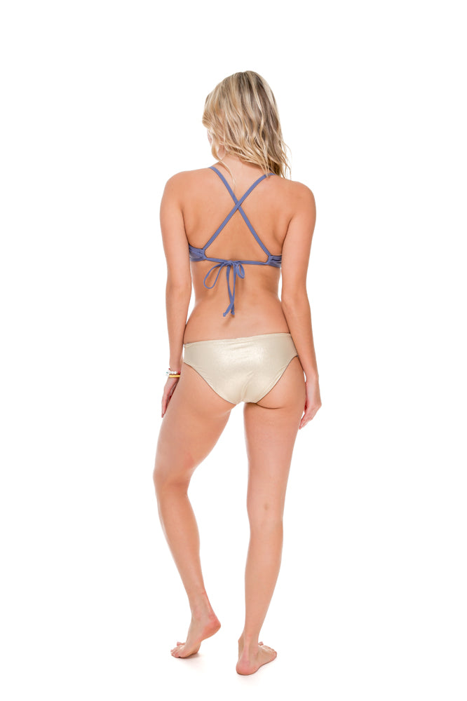 COSITA BUENA - Underwire Adjustable Top & Side Tab Seamless Full Bottom • Blue Moon
