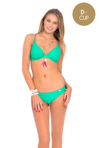 COSITA BUENA - Underwire Adjustable Top & Full Ruched Back Bottom • Mermaid Crossing