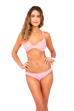 COSITA BUENA - Underwire Adjustable Top & Full Ruched Back Bottom • Pink Sunsets
