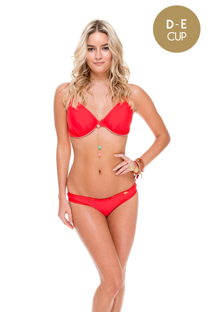 COSITA BUENA - Underwire Adjustable Top & Full Ruched Back Bottom • Girl On Fire