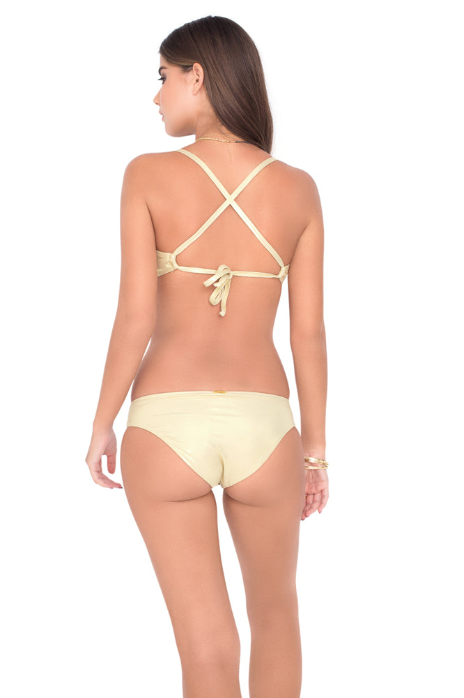 COSITA BUENA - Underwire Adjustable Top & Reversible Seamless Full Bottom • Gold Rush
