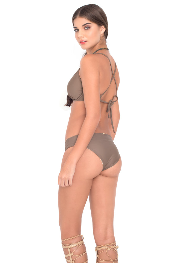 COSITA BUENA - Underwire Adjustable Top & Reversible Seamless Full Bottom • Sandy Toes