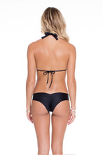 COSITA BUENA - Halter Top & Wavey Brazilian Ruched Back Bottom • Black