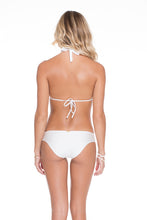 COSITA BUENA - Halter Top & Side Tab Seamless Full Bottom • White