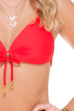 COSITA BUENA - Molded Push Up Bandeau Halter & Wavey Brazilian Tie Side Ruched Back • Girl On Fire