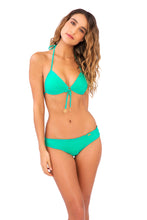 COSITA BUENA - Molded Push Up Bandeau Halter & Wavey Brazilian Ruched Back Bottom • Mermaid Crossing