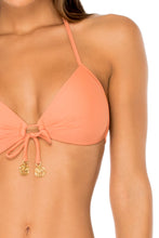 COSITA BUENA - Molded Push Up Bandeau Halter Top & Strappy Brazilian Ruched Back Bottom • Azafran