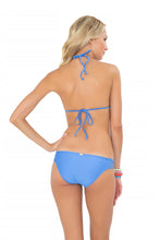 COSITA BUENA - Molded Push Up Bandeau Halter & Multi Braid Full Bottom • Sea Angel