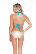 COSITA BUENA - Molded Push Up Bandeau Halter & Side Tab Seamless Full Bottom • Exuma