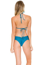 COSITA BUENA - Molded Push Up Bandeau Halter & Scrunch Panty Ruched Back • Miramar