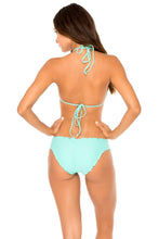 COSITA BUENA - Molded Push Up Bandeau Halter Top & Full Ruched Back Bottom • Agua Dulce