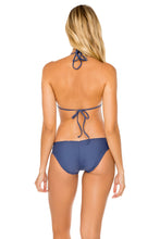 COSITA BUENA - Molded Push Up Bandeau Halter Top & Full Ruched Back Bottom • Azulejos