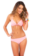 COSITA BUENA - Molded Push Up Bandeau Halter & Reversible Seamless Full Bottom • Pink Sunsets