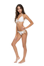 COSITA BUENA - Molded Push Up Bandeau Halter & Cayo Coco Brazilian Bottom • White