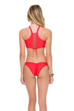 COSITA BUENA - High Neck Sporty Bra & Strappy Brazilian Ruched Back Bottom • Girl On Fire