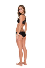 COSITA BUENA - High Neck Sporty Bra & Side Tab Seamless Full Bottom • Black