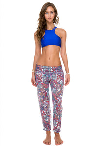 COSITA BUENA - High Neck Sporty Bra & Smocked Gipsy Pant • Multicolor