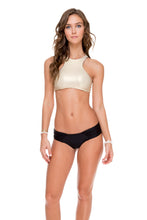 COSITA BUENA - High Neck Sporty Bra & Scrunch Panty Ruched Back • Black