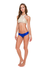 COSITA BUENA - High Neck Sporty Bra & Scrunch Panty Ruched Back • Electric Blue