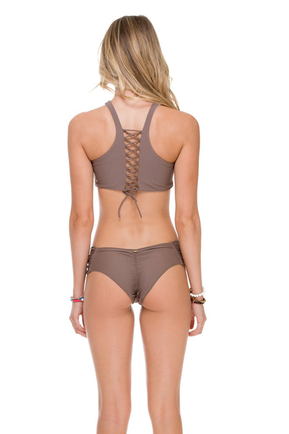 COSITA BUENA - High Neck Sporty Bra & Scrunch Panty Ruched Back • Sandy Toes