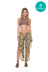 COSITA BUENA - High Neck Sporty Bra & Bonfire Pant • Multicolor
