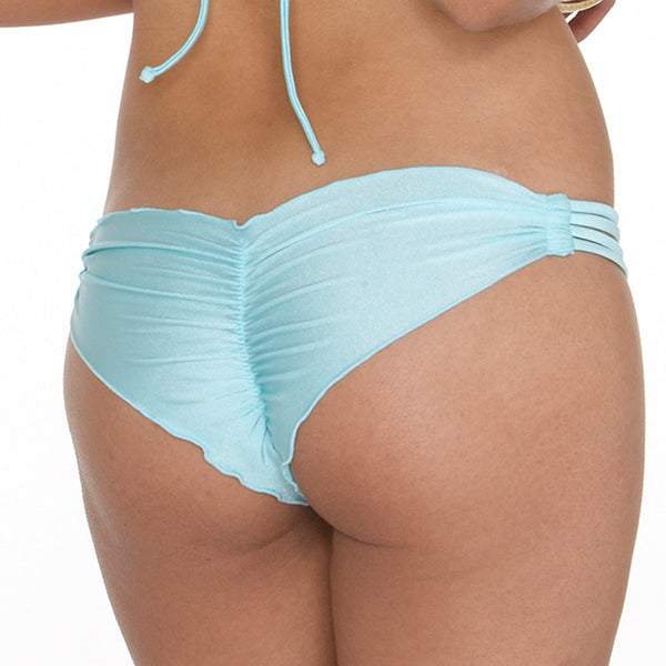 COSITA BUENA - Multi Strap Brazilian Ruched Back Bottom-BF