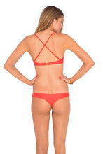 COSITA BUENA - Criss Cross Back Bra Top & Reversible Buns Out Bottom • Luli Red